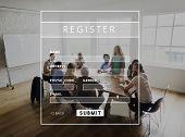 Register Username Account Summit Banner poster