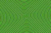 Optical Illusion Hypno Green