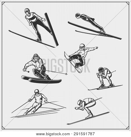 Set Of Winter Sport Athlete