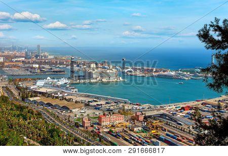 Barcelona Catalonia Spain Top view