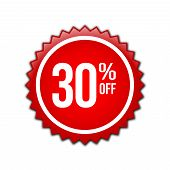 30% Text Banner And Label Sticker Sale Offer And Badge Tag Sale Advertising. Label Discount, Sticker poster