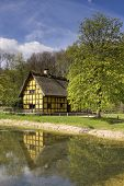 Half-timbered House Situated In A German Open Air Museum In The Region Eifel poster