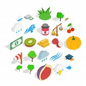 Vital Icons Set. Isometric Set Of 25 Vital Icons For Web Isolated On White Background poster