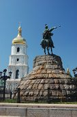 stock photo of bohdan  - Monument of famous Ukranian Hethman Bogdan Khmelnitsky in Kiev - JPG