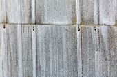 Rusty Corrugated Iron Wall Textured Background. Grungy Metal Wall Texture poster