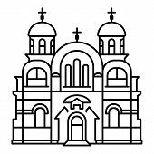 Christian Temple Icon. Outline Christian Temple Icon For Web Design Isolated On White Background poster