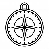 Navigation Compass Icon. Outline Navigation Compass Icon For Web Design Isolated On White Background poster