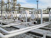 Heat Exchangers In Refineries. The Equipment For Oil Refining. Heat Exchanger For Flammable Liquids. poster