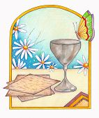 picture of matzah  - An illustration of matzah - JPG