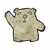 foto of wombat  - cartoon waving wombat - JPG