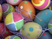 stock photo of easter-eggs  - close - JPG