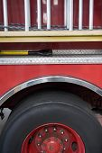 Close Up Of Fire-Engine Wheel