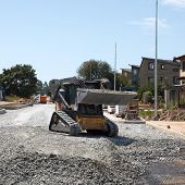 image of bobcat  - construction of a new street - JPG