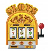 pic of poker machine  - Vector slot machine icon - JPG