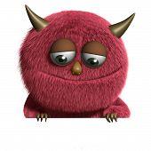 Cute Furry Alien poster
