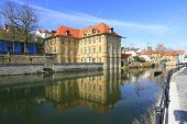 stock photo of regnitz  - Water castle Concordia Bamberg - JPG