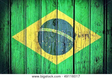 Brasil Flag poster