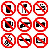 Prohibited Signs Illustration