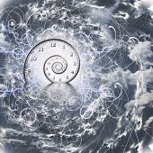 stock photo of psychedelic  - Time and Quantum Physics - JPG