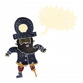image of peg-leg  - retro cartoon pirate captain - JPG