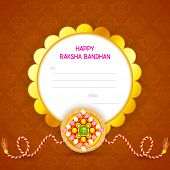 stock photo of rakhi  - vector illustration of decorated rakhi for Raksha Bandhan - JPG