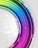 Abstraction digital circles light vector background