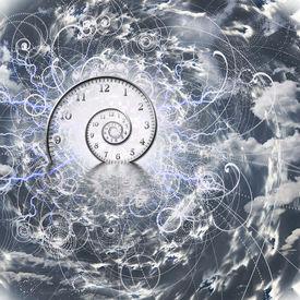 stock photo of quantum  - Time and Quantum Physics - JPG