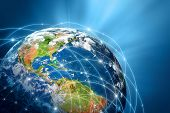 stock photo of futuristic  - Best Internet Concept of global business from concepts series - JPG
