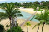 foto of deserted island  - Sentosa island in Singapore - JPG