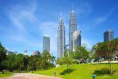 foto of petronas twin towers  - Kuala lumpur city - JPG