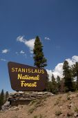 Stanislaus National Forest Sign