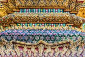 BANGKOK, THAILAND - DECEMBER 30: column detail grand palace Phra Mondop at Bangkok, Thailand on dece