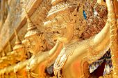 image of garuda  - Garuda in Wat Phra Kaew Grand Palace of Thailand - JPG