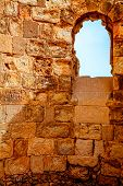picture of masada  - Byzantine church in Masada fortress in Israel - JPG