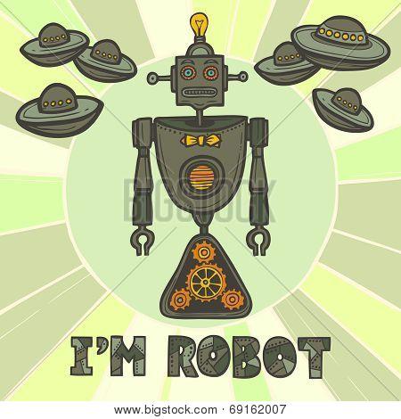 poster of Hipster robot design