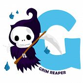 foto of reaper  - the letter g for the word grim reaper - JPG