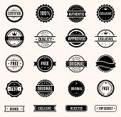 stock photo of denied  - vector commercial stamps set in vintage style for business and design - JPG