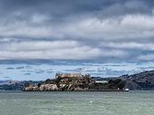 pic of alcatraz  - Alcatraz Island in San Francisco in USA - JPG