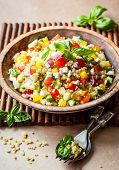 image of quinoa  - Quinoa salad with cucumber - JPG