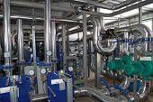 pic of boiler  - Interior of independent modern gas boiler - JPG