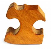 stock photo of jenga  - Close up of Puzzle block over white background - JPG