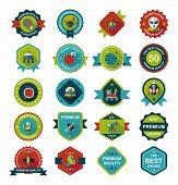 image of uranus  - Space Badge Banner Flat Design Background Set - JPG