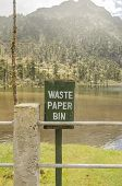 picture of dust-bin  - waster paper bin for use in a tourist spot - JPG