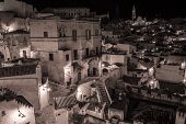 picture of sassy  - Sassi houses of Matera at night - JPG