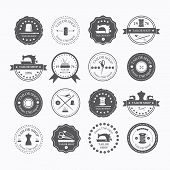 stock photo of tailoring  - Set of vintage tailor labels emblems and designed elements - JPG