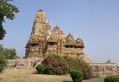 pic of kandariya mahadeva temple  - Kandariya Mahadeva Temple at Khajuraho in India Asia - JPG