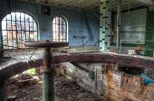 picture of valves  - Old space of a boiler in a brewery with a valve - JPG