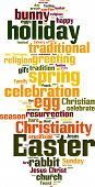 image of lent  - Easter word cloud concept - JPG