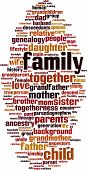 image of niece  - Family word cloud concept isolated on white - JPG