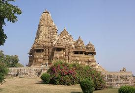 picture of kandariya mahadeva temple  - Kandariya Mahadeva Temple at Khajuraho in India Asia - JPG